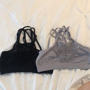 Free People Bralette and Crocheted Top